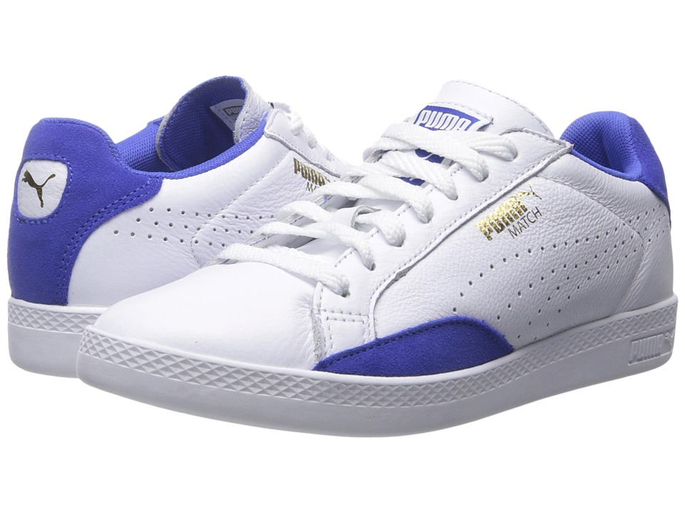 PUMA - Match Lo Basic Sports (White/Dazzling Blue) Women's Shoes