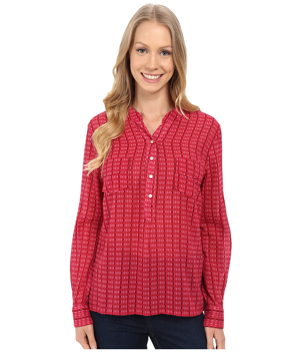 Carve Designs - Dylan Gauze Shirt (Strawberry Alpine) Women's Long Sleeve Button Up plus size,  plus size fashion plus size appare