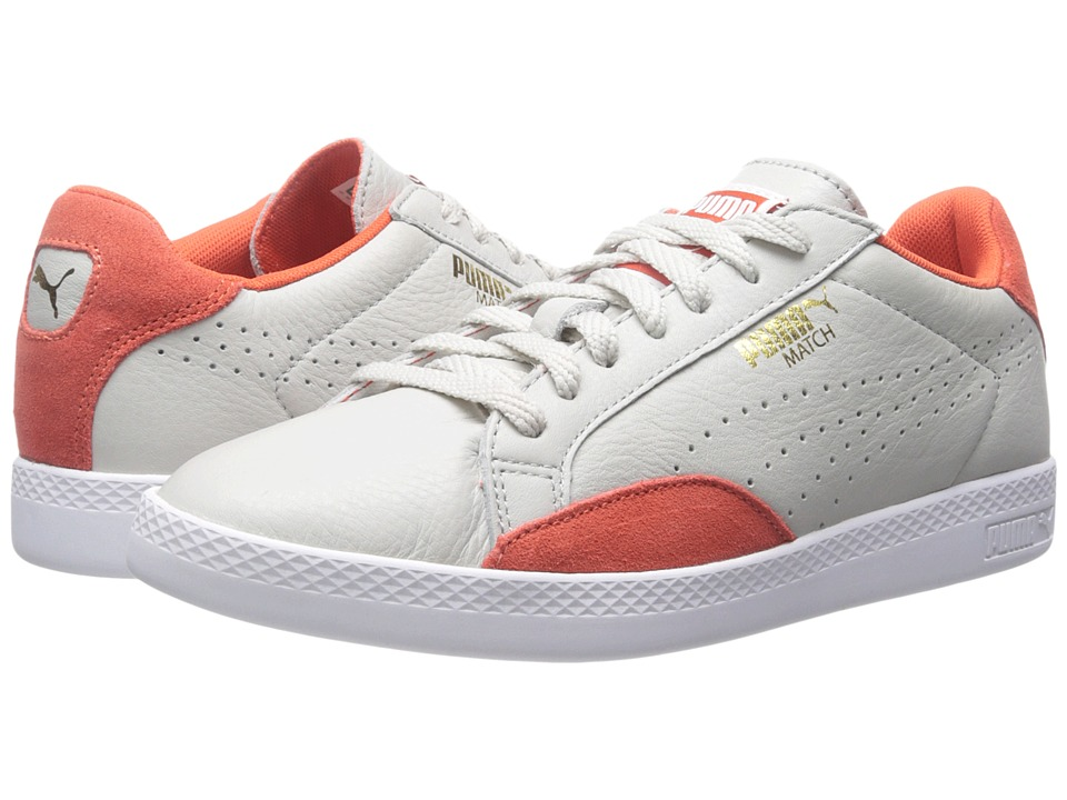 PUMA - Match Lo Basic Sports (Glacier Gray/Grenadine) Women's Shoes