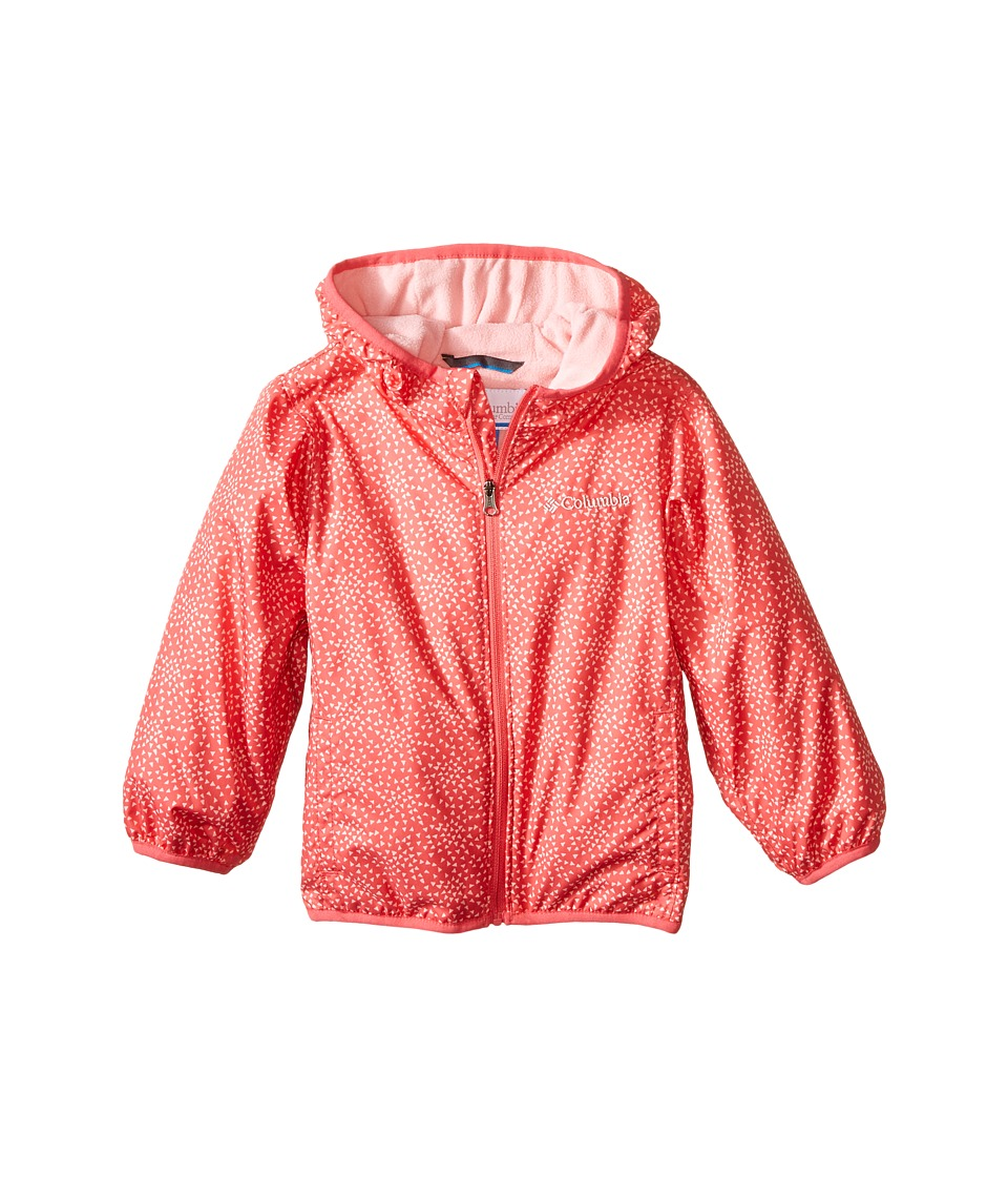 Columbia Kids - Mini Pixel Grabber II Wind Jacket (Infant/Toddler) (Bright Geranium) Girl's Coat