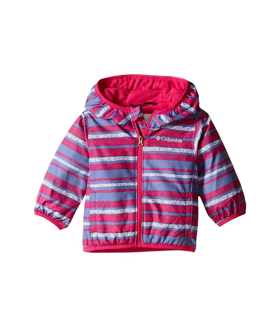 Columbia Kids - Mini Pixel Grabber II Wind Jacket (Infant/Toddler) (Haute Pink Stripe) Girl's Coat