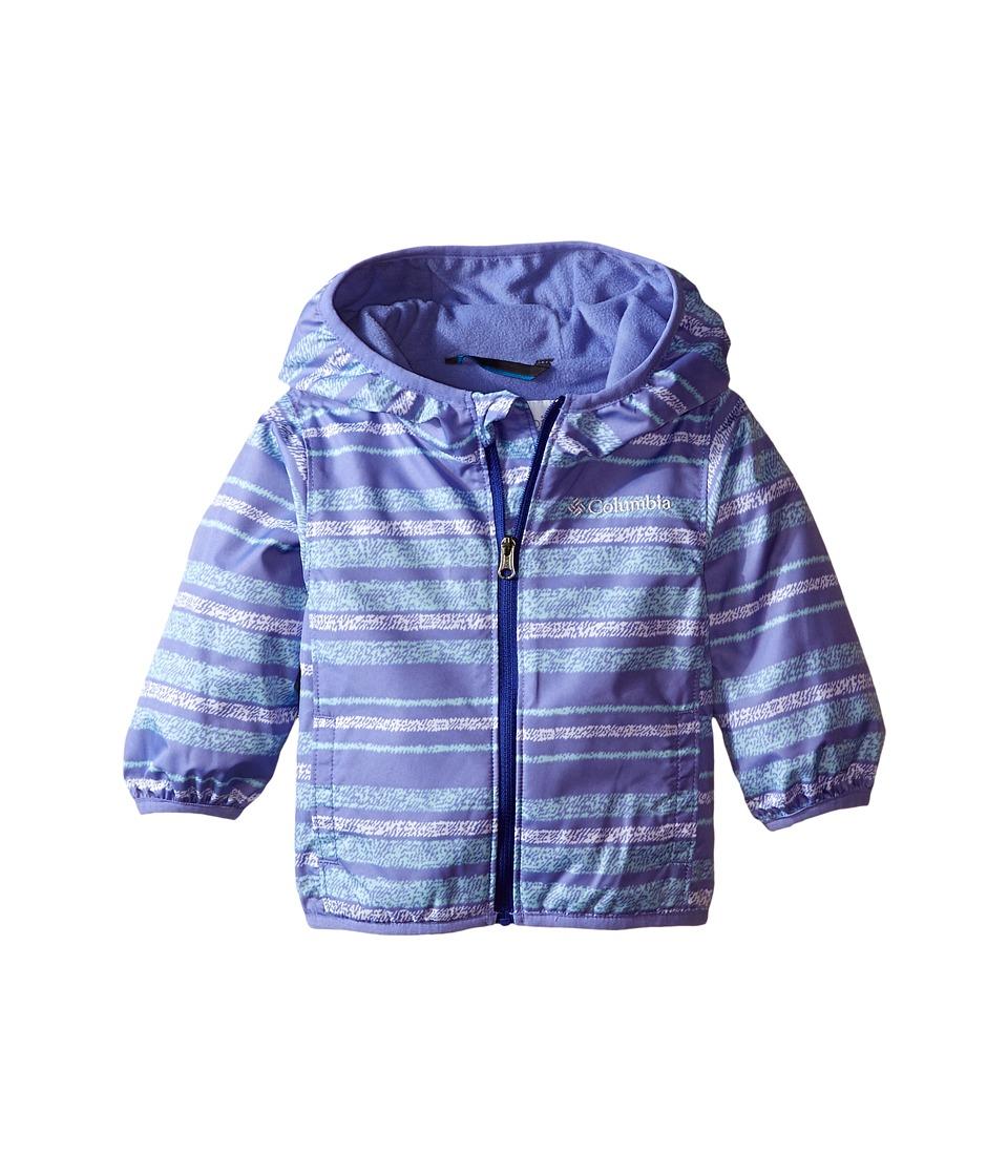 Columbia Kids - Mini Pixel Grabber II Wind Jacket (Infant/Toddler) (Pale Purple Stripe) Girl's Coat