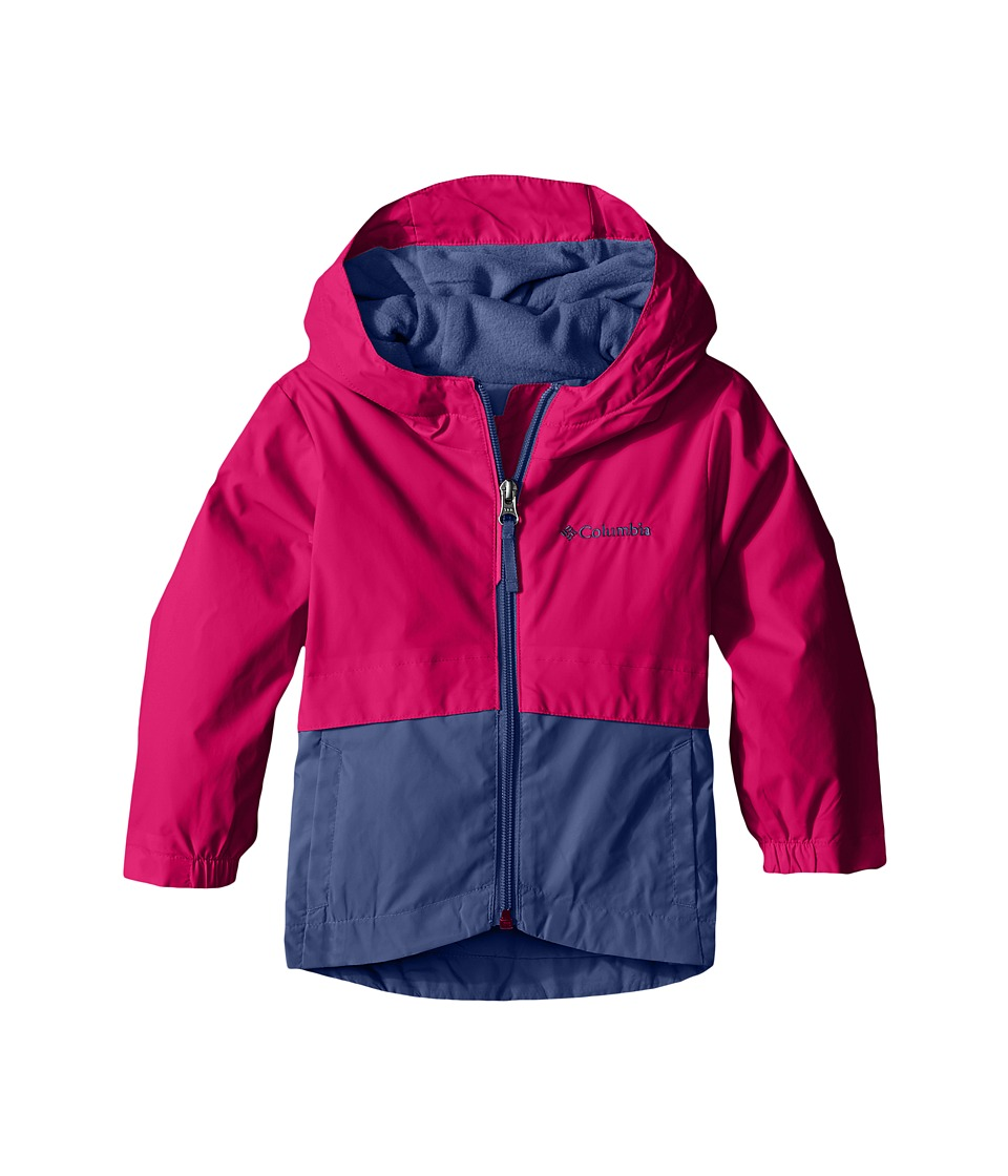 Columbia Kids - Rain-Zilla Jacket (Toddler) (Haute Pink/Bluebell) Girl's Jacket