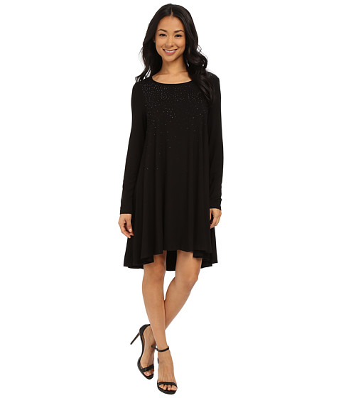 Karen Kane - Ombre Sparkle Swing Dress (Black) Women's Dress