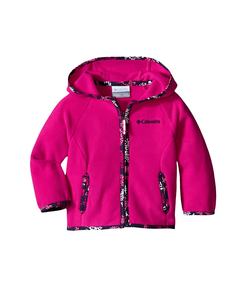 Columbia Kids - Fast Trek Hoodie (Infant) (Haute Pink) Girl's Sweatshirt