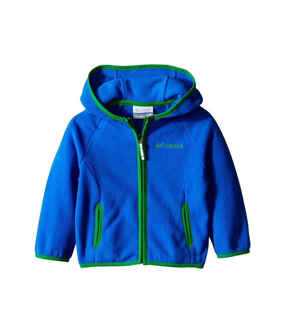 Columbia Kids - Fast Trek Hoodie (Infant) (Super Blue/Fuse Green) Boy's Sweatshirt