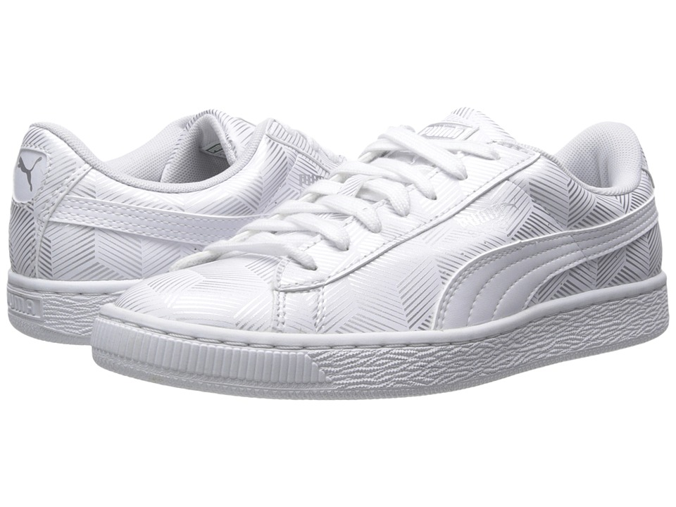 PUMA - Basket Classic Metallic (White) Women's Shoes