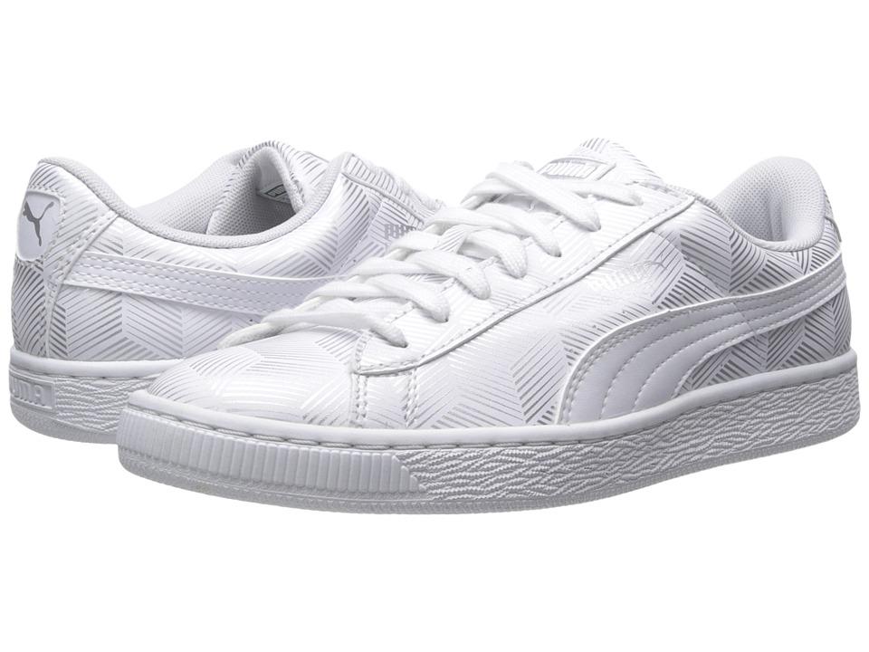 PUMA - Basket Classic Metallic (White) Women's Shoes