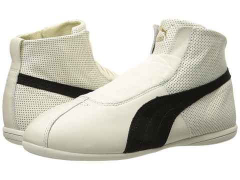 PUMA - Eskiva Mid (Whisper White/Black) Women