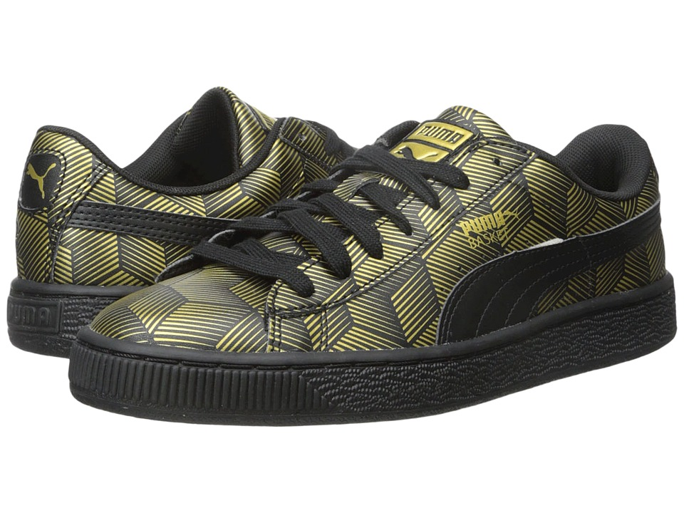PUMA - Basket Classic Metallic (Black) Women