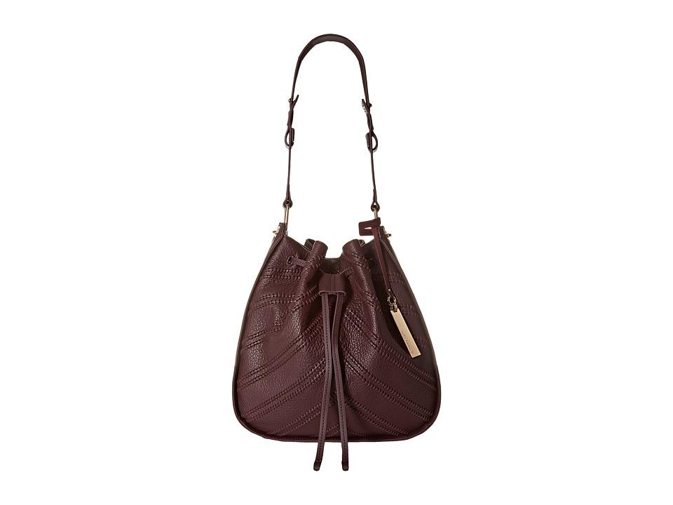 Vince Camuto - Rayli Drawstring (Bordeaux) Shoulder Handbags