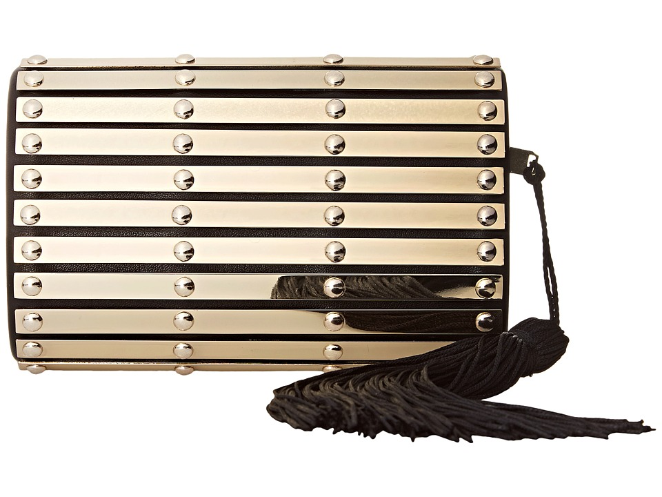 Vince Camuto - Gilda Minaudiere (Black/Shiny Gold) Clutch Handbags