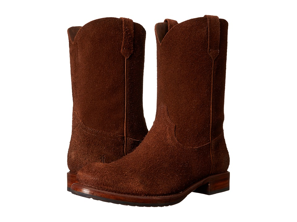 Frye Duke Roper (Brown Oiled Suede) Cowboy Boots