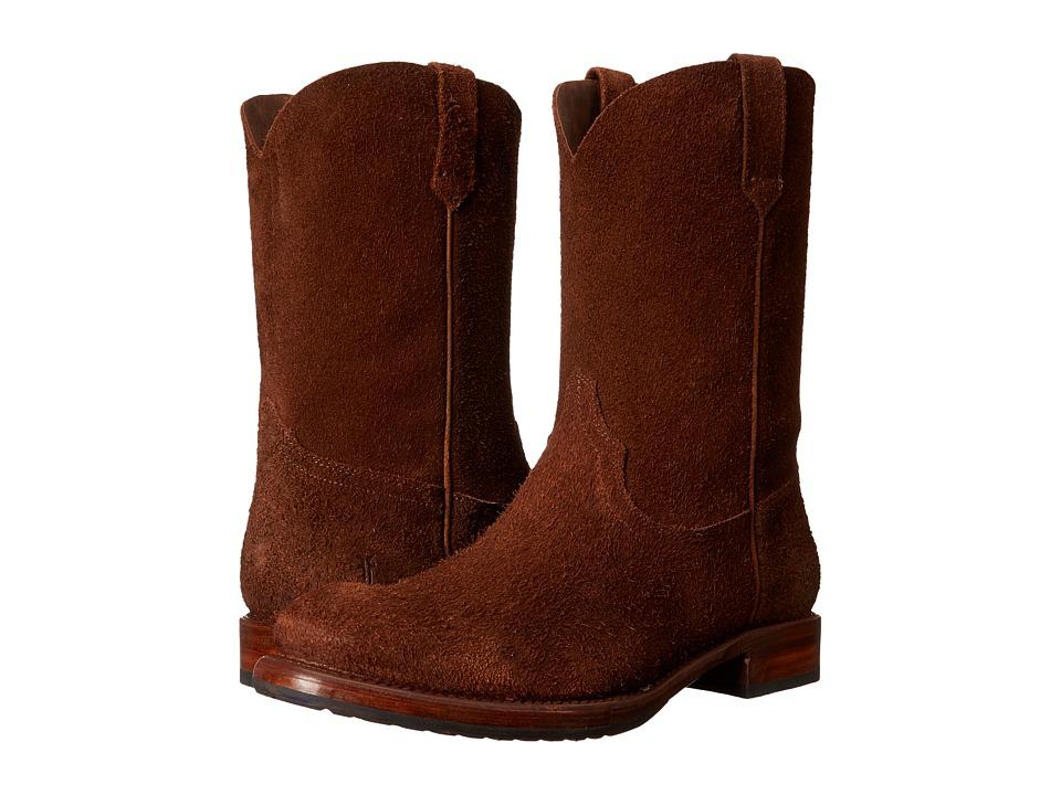 Frye - Duke Roper (Brown Oiled Suede) Cowboy Boots
