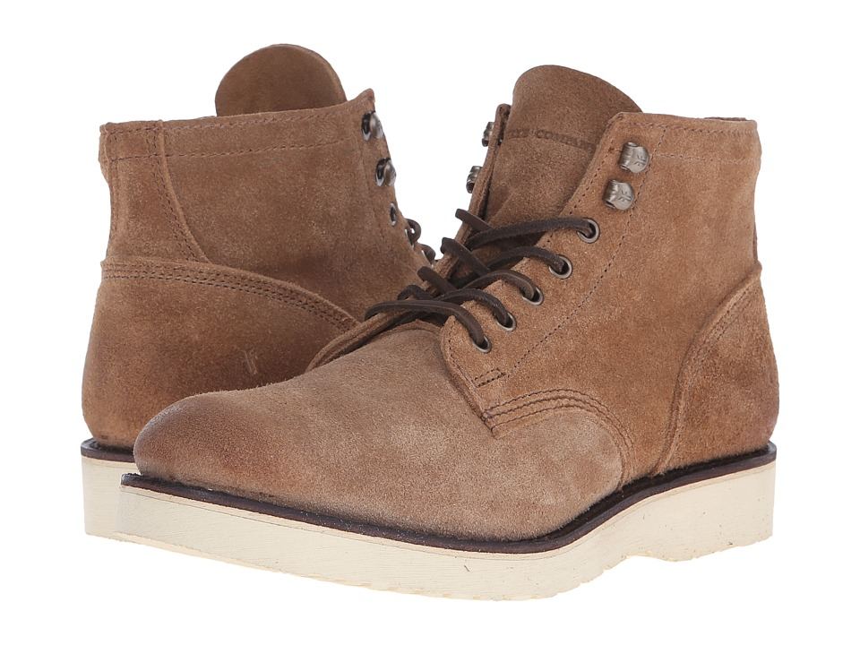Frye Freeman Midlace (Caramel Oiled Suede) Men
