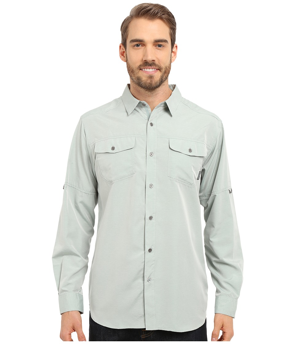 Columbia - Pilsner Peak Long Sleeve Shirt (Pine Green Heather) Men's Long Sleeve Button Up