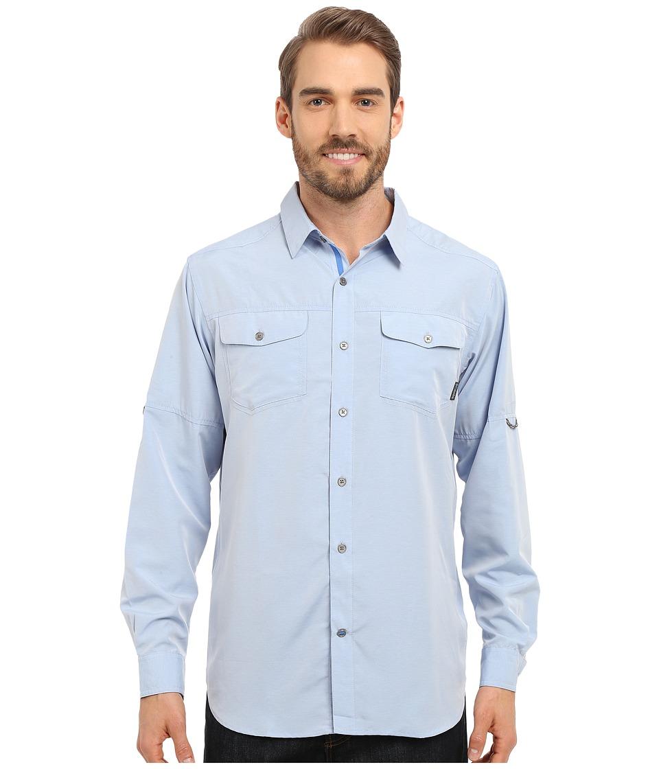 Columbia - Pilsner Peak Long Sleeve Shirt (Pacific Blue Heather) Men's Long Sleeve Button Up