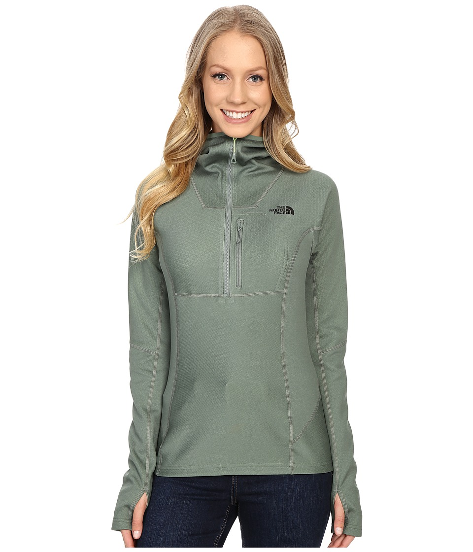 The North Face - FuseForm Dolomiti 1/4 Zip Hoodie (Laurel Wreath Green Fuse) Women's Sweatshirt