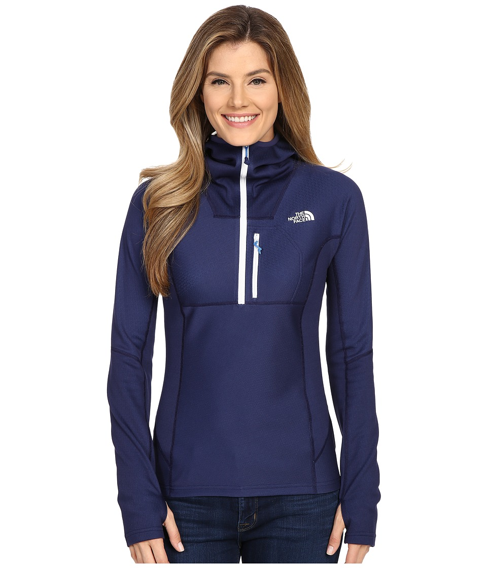 The North Face - FuseForm Dolomiti 1/4 Zip Hoodie (Patriot Blue Fuse) Women's Sweatshirt