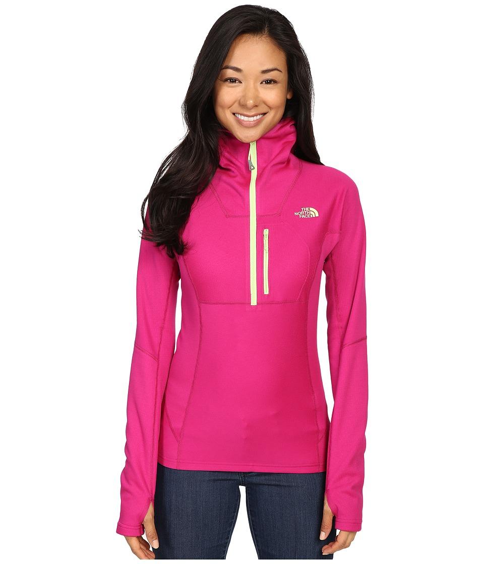 The North Face - FuseFormtm Dolomiti 1/4 Zip Hoodie (Fuchsia Pink Fuse) Women's Sweatshirt