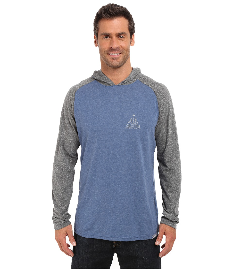 Columbia - Trail Shaker Hoodie (Night Tide Heather) Men's Sweatshirt