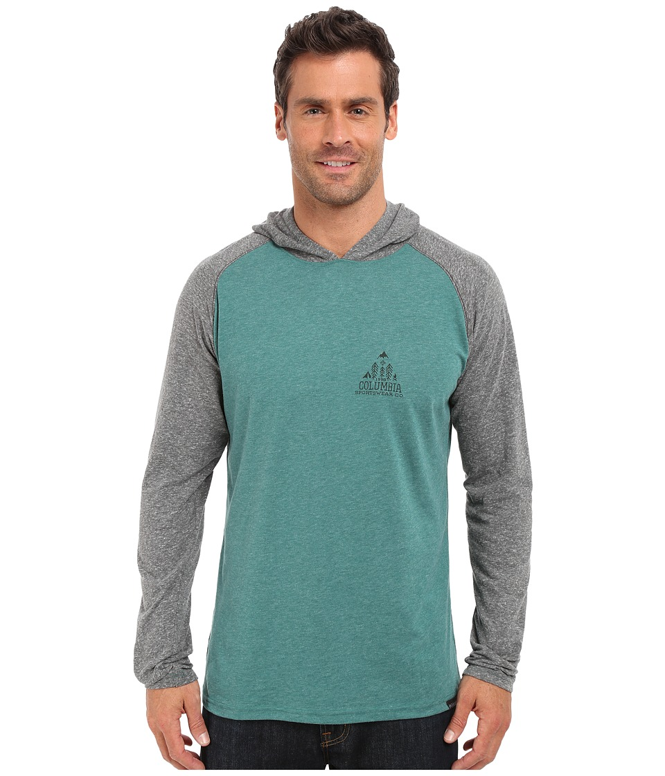 Columbia - Trail Shaker Hoodie (Pine Green Heather) Men's Sweatshirt