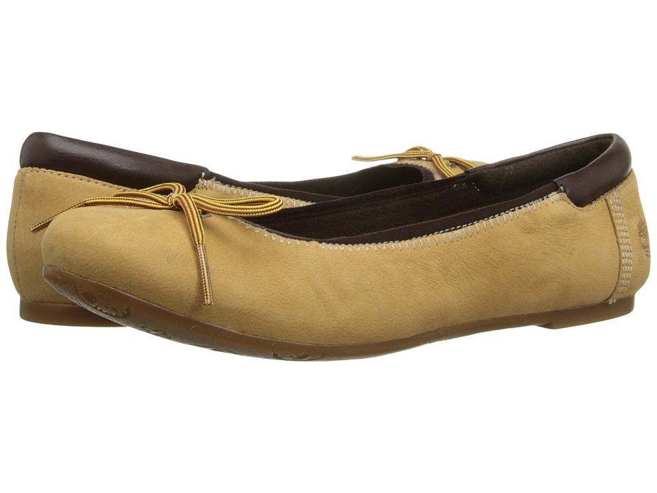 Timberland - Ellsworth 6 Ballerina (Wheat Nubuck) Women's Flat Shoes