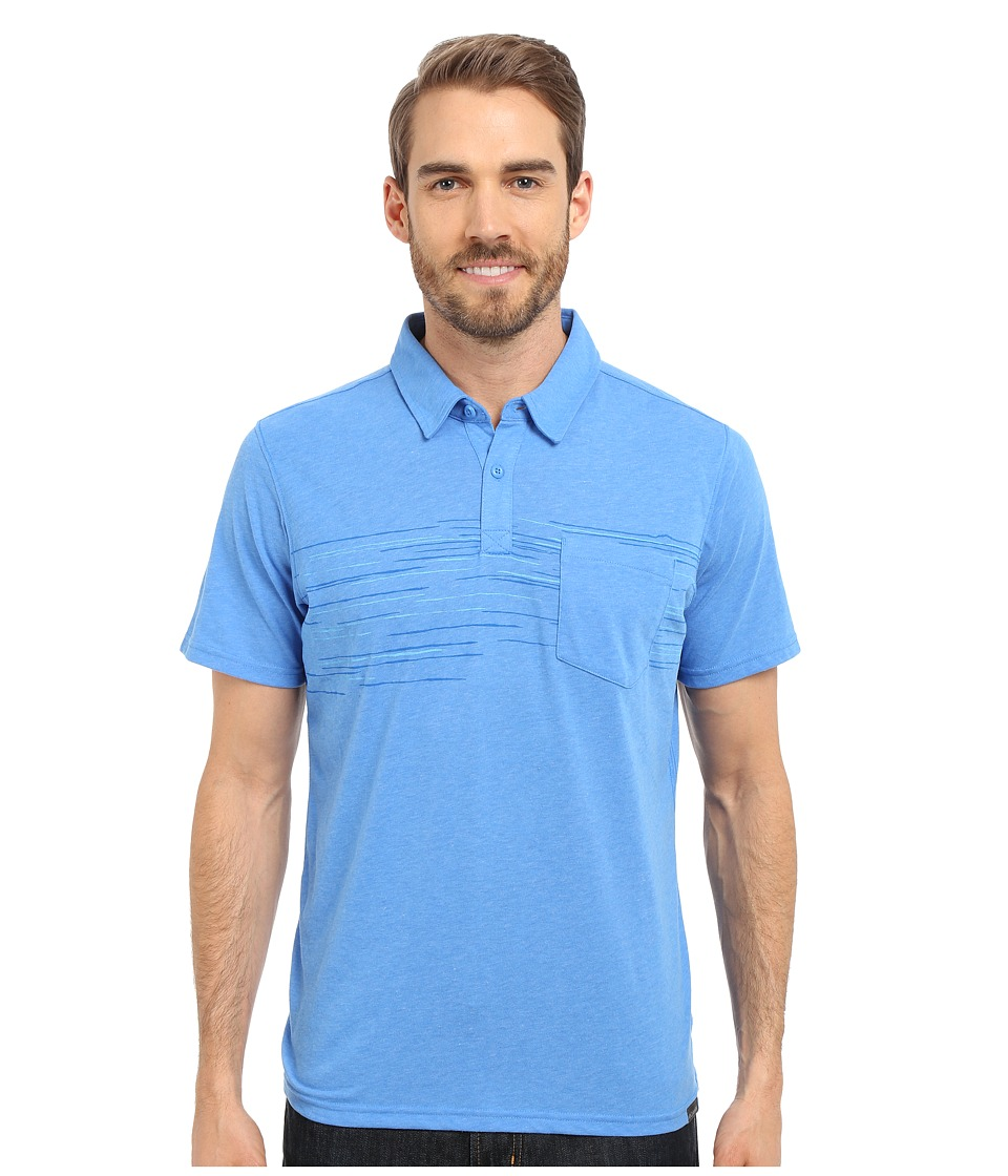 Columbia - Trail Shaker Polo (Pacific Blue Heather) Men's Short Sleeve Pullover