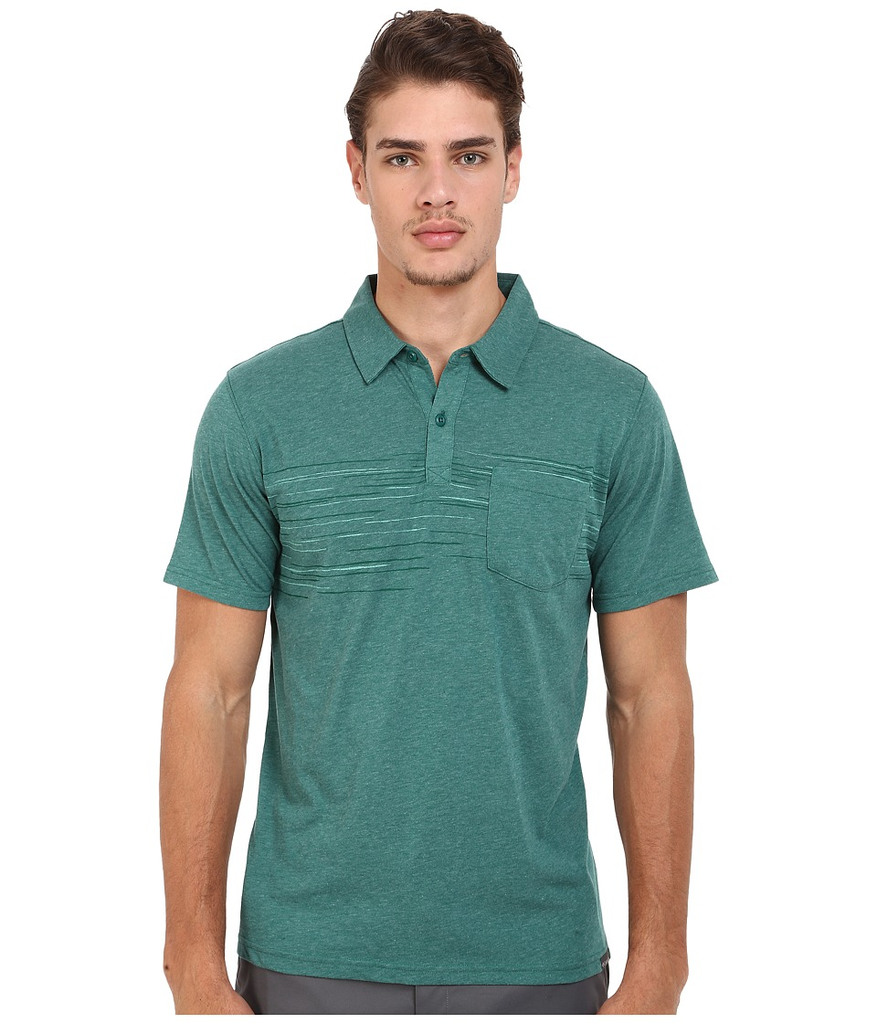 Columbia - Trail Shaker Polo (Pine Green Heather) Men's Short Sleeve Pullover