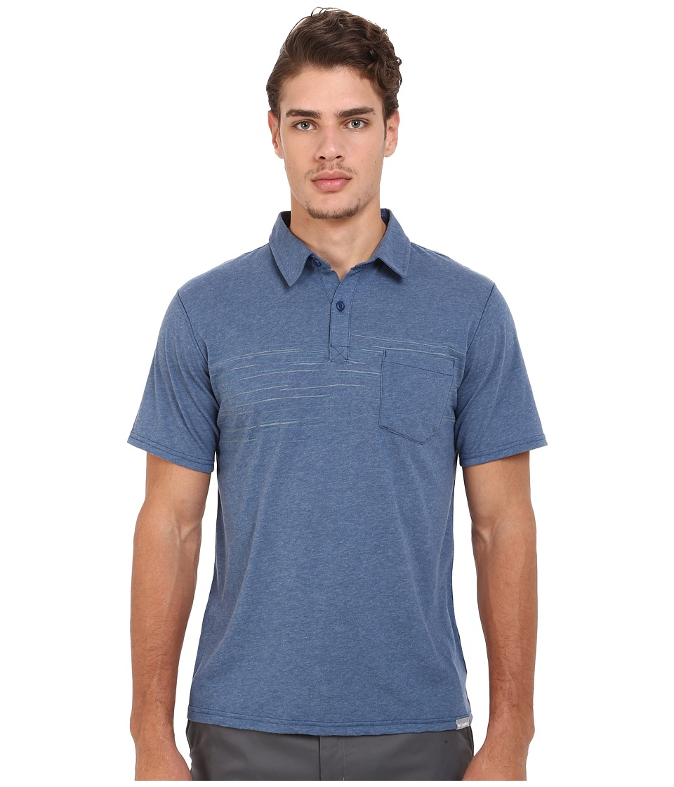 Columbia - Trail Shaker Polo (Night Tide Heather) Men's Short Sleeve Pullover