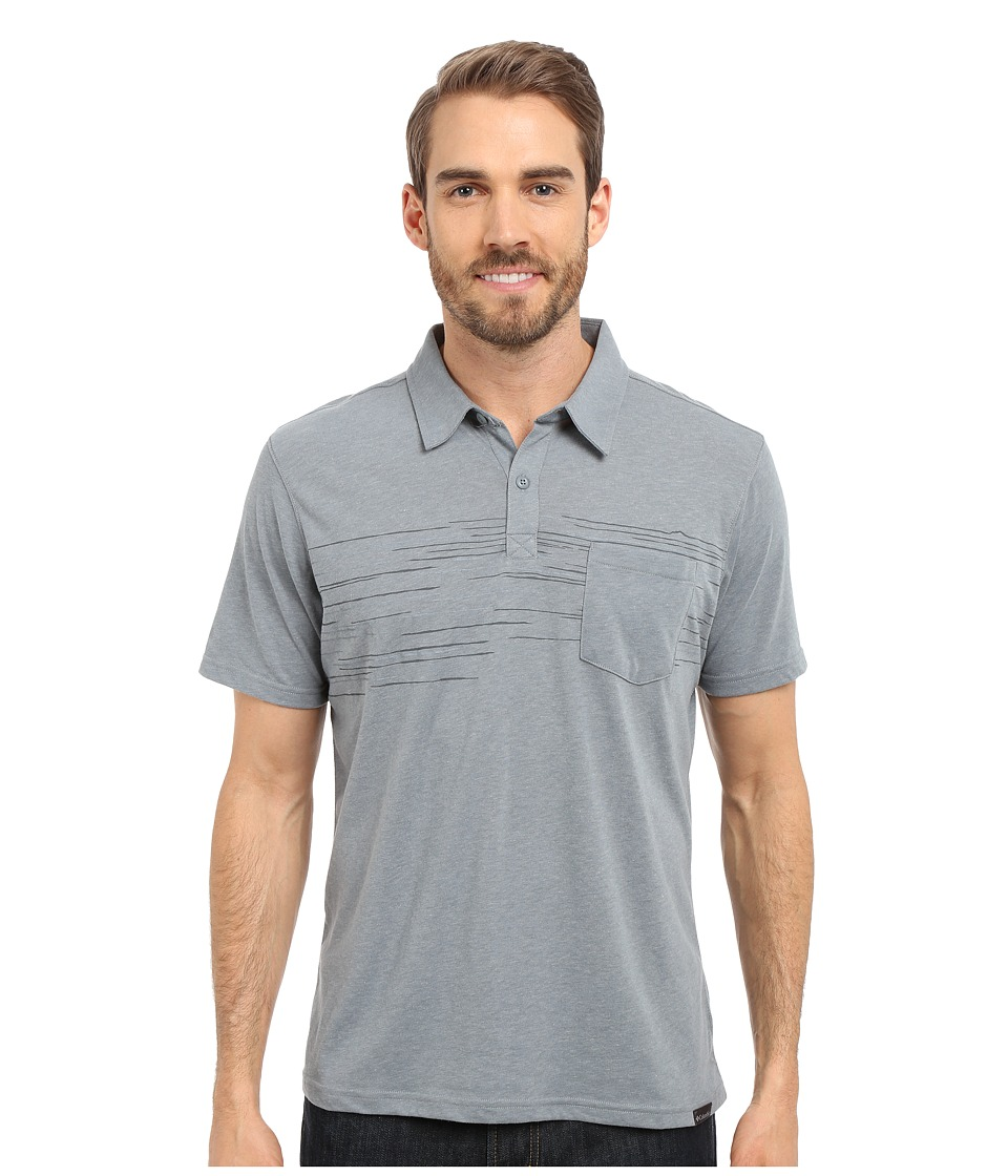 Columbia - Trail Shaker Polo (Grey Ash Heather) Men's Short Sleeve Pullover