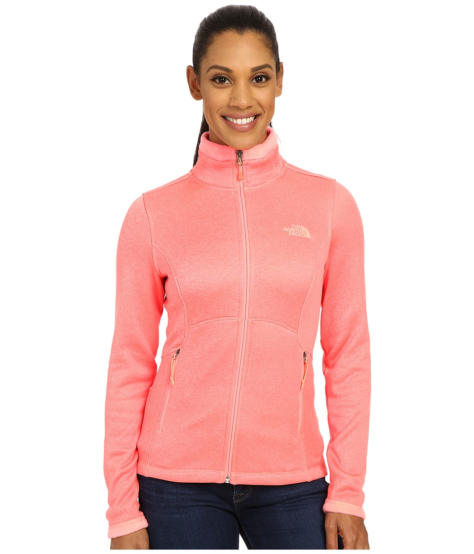 The North Face - Agave Jacket (Neon Peach Heather) Women's Coat
