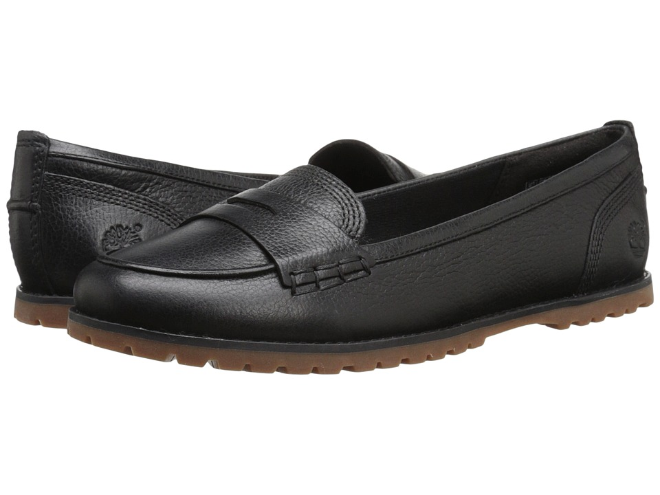 Timberland - Joslin Penny Loafer (Black Full Grain) Women's Shoes