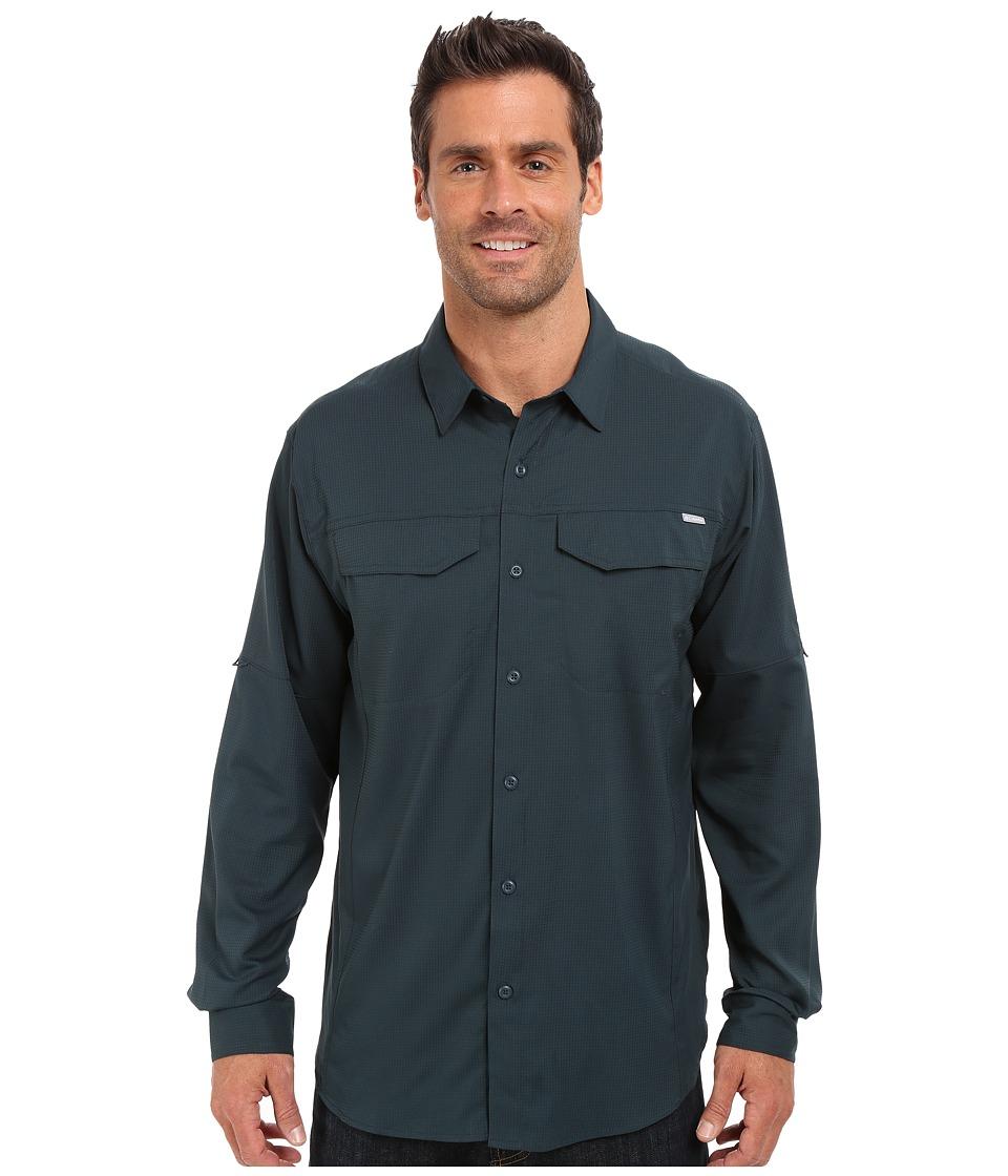 Columbia - Silver Ridge Lite Long Sleeve Shirt (Night Shadow) Men's Long Sleeve Button Up
