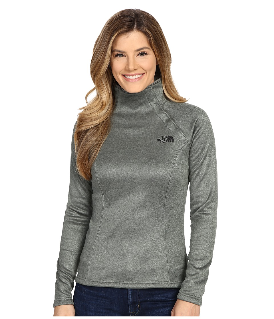 The North Face - Agave 1/4 Snap (Laurel Wreath Green Heather) Women