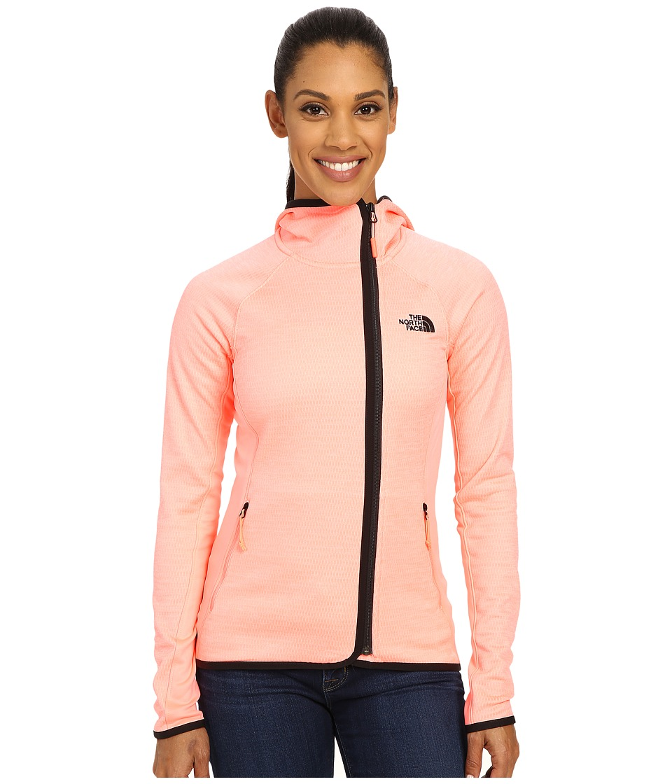 The North Face - Arcata Hoodie (Neon Peach Heather/Neon Peach) Women's Sweatshirt