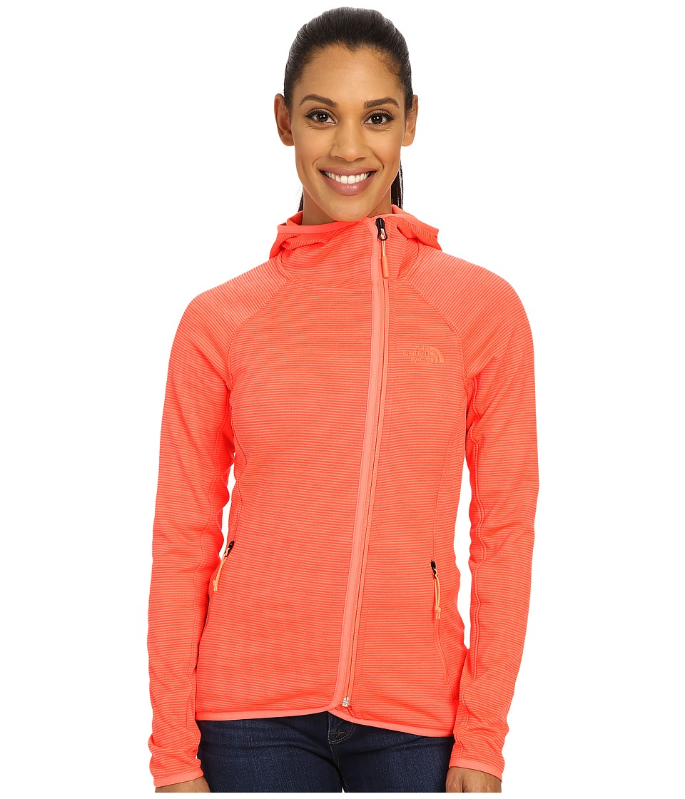 The North Face - Arcata Hoodie (Tropical Coral Stria) Women's Sweatshirt