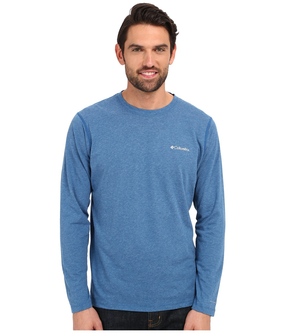 Columbia - Silver Ridge Zero Long Sleeve Shirt (Marine Blue Heather) Men's Long Sleeve Pullover
