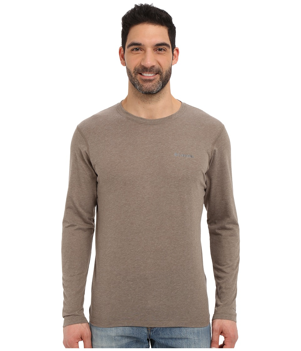 Columbia - Silver Ridge Zero Long Sleeve Shirt (Wet Sand Heather) Men's Long Sleeve Pullover