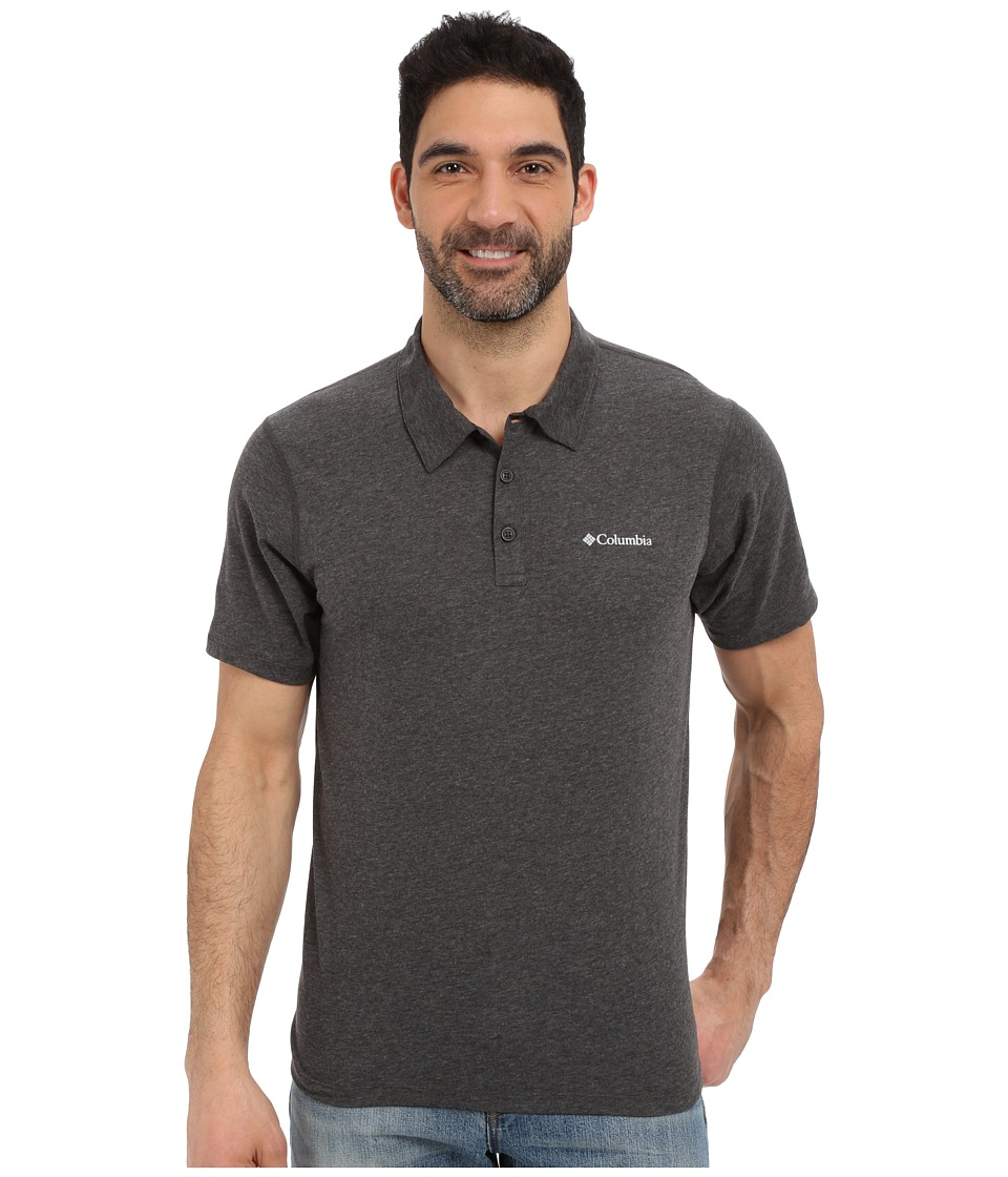 Columbia - Silver Ridge Zero Polo (Shark Heather) Men's Short Sleeve Pullover