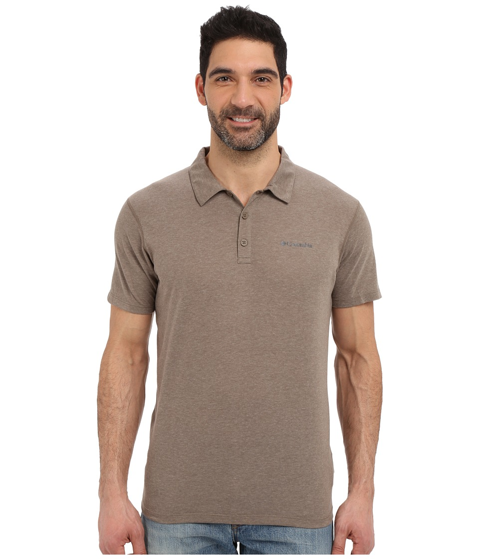 Columbia - Silver Ridge Zero Polo (Wet Sand Heather) Men's Short Sleeve Pullover