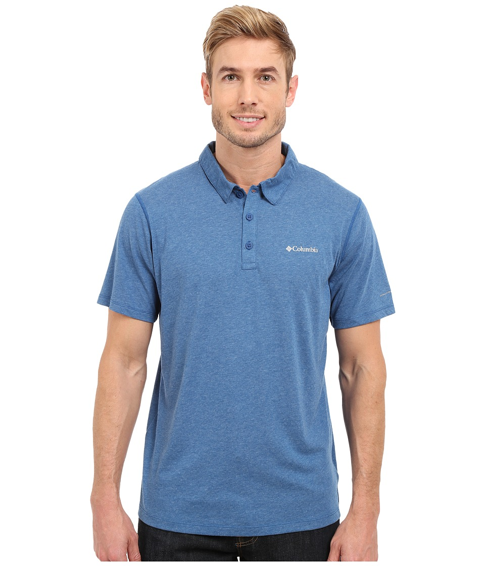 Columbia - Silver Ridge Zero Polo (Marine Blue Heather) Men's Short Sleeve Pullover