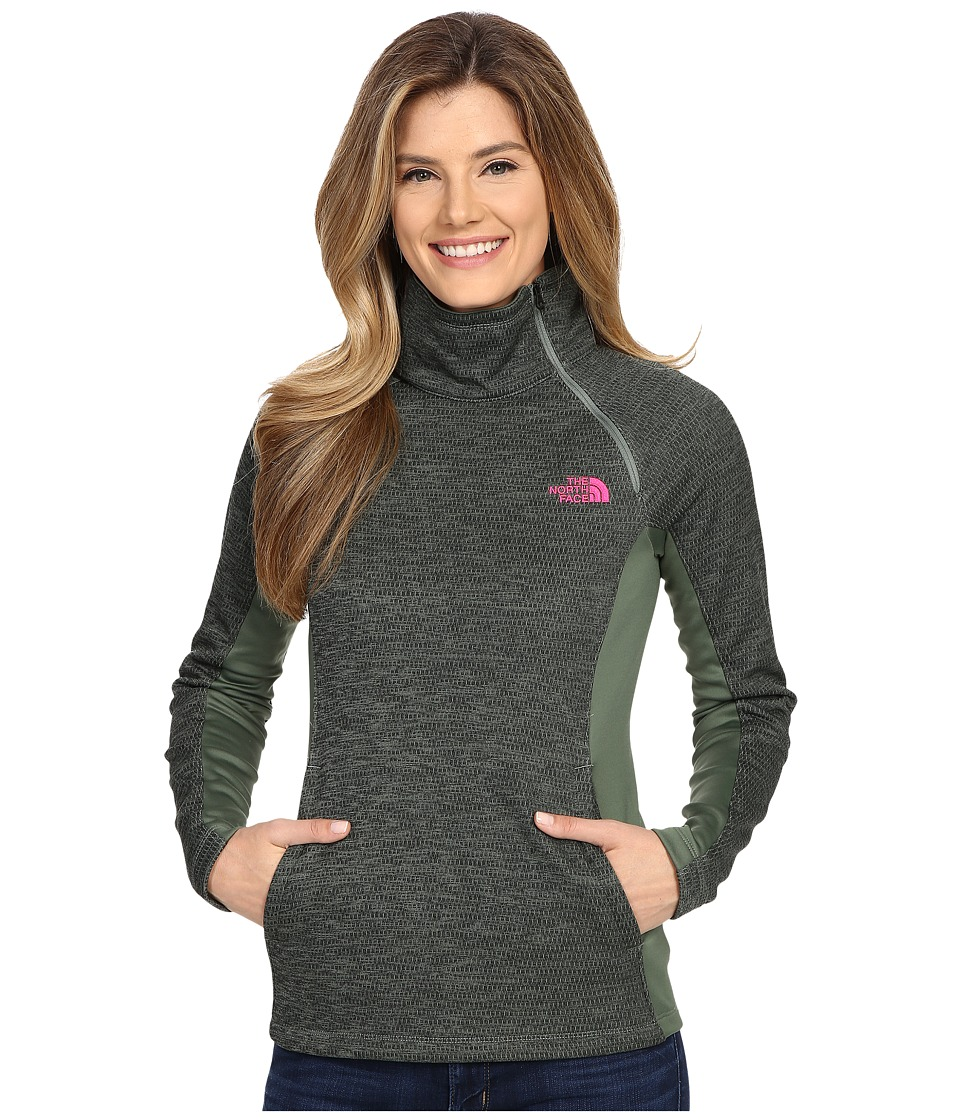The North Face - Arcata 1/4 Zip (Laurel Wreath Green Heather/Laurel Wreath Green) Women's Long Sleeve Pullover