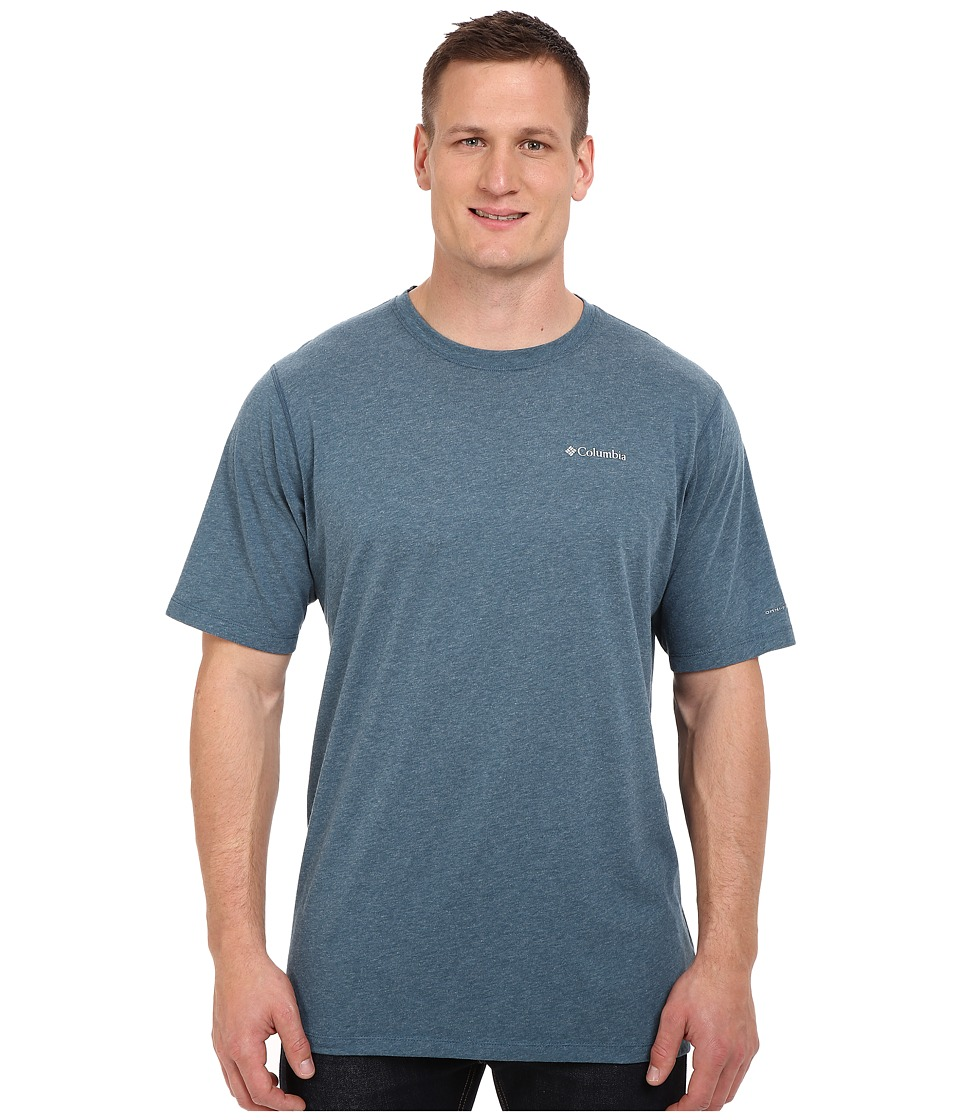 Columbia - Big Tall Silver Ridge Zero Short Sleeve Shirt (Everblue Heather) Men's T Shirt