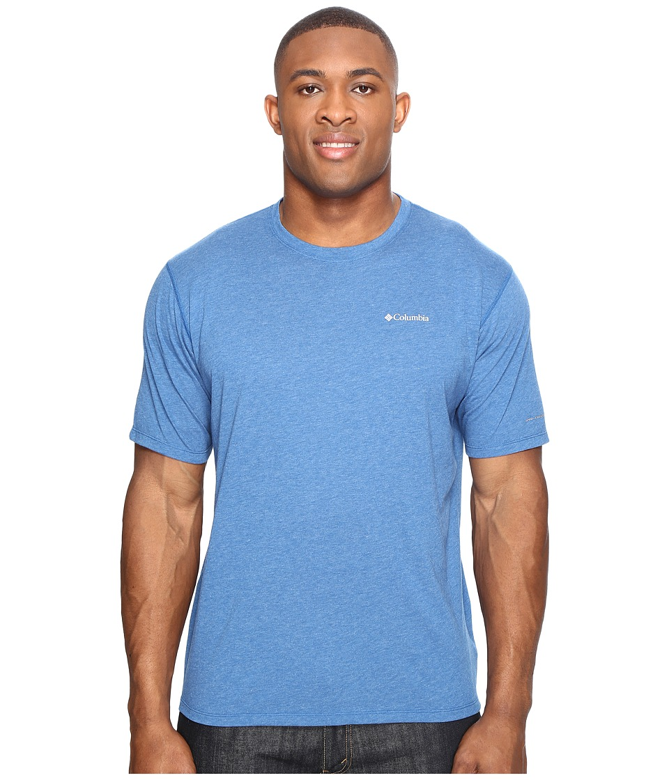 Columbia - Big Tall Silver Ridge Zerotm Short Sleeve Shirt (Marine Blue Heather) Men's T Shirt