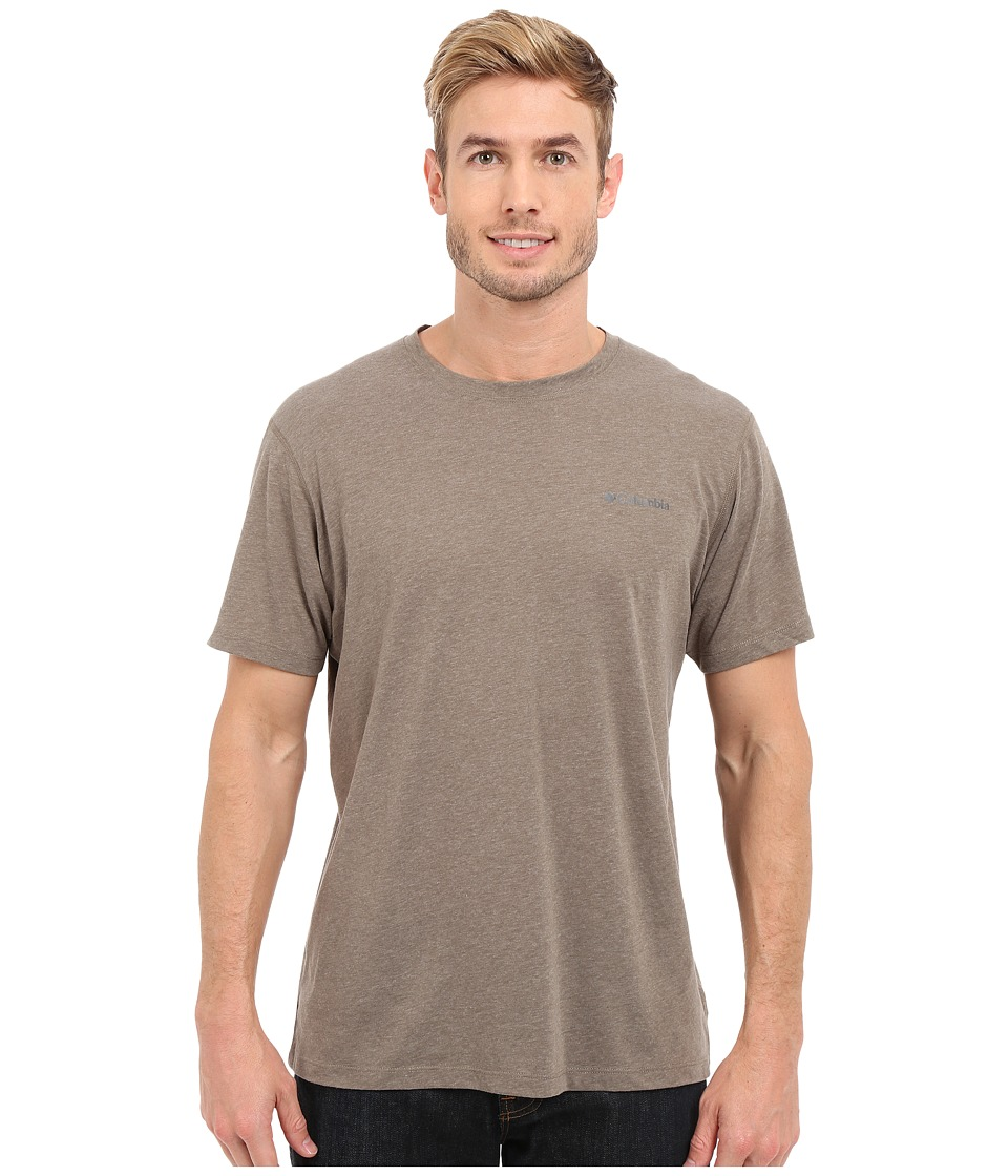 Columbia - Silver Ridge Zero Short Sleeve Shirt (Wet Sand Heather) Men's T Shirt
