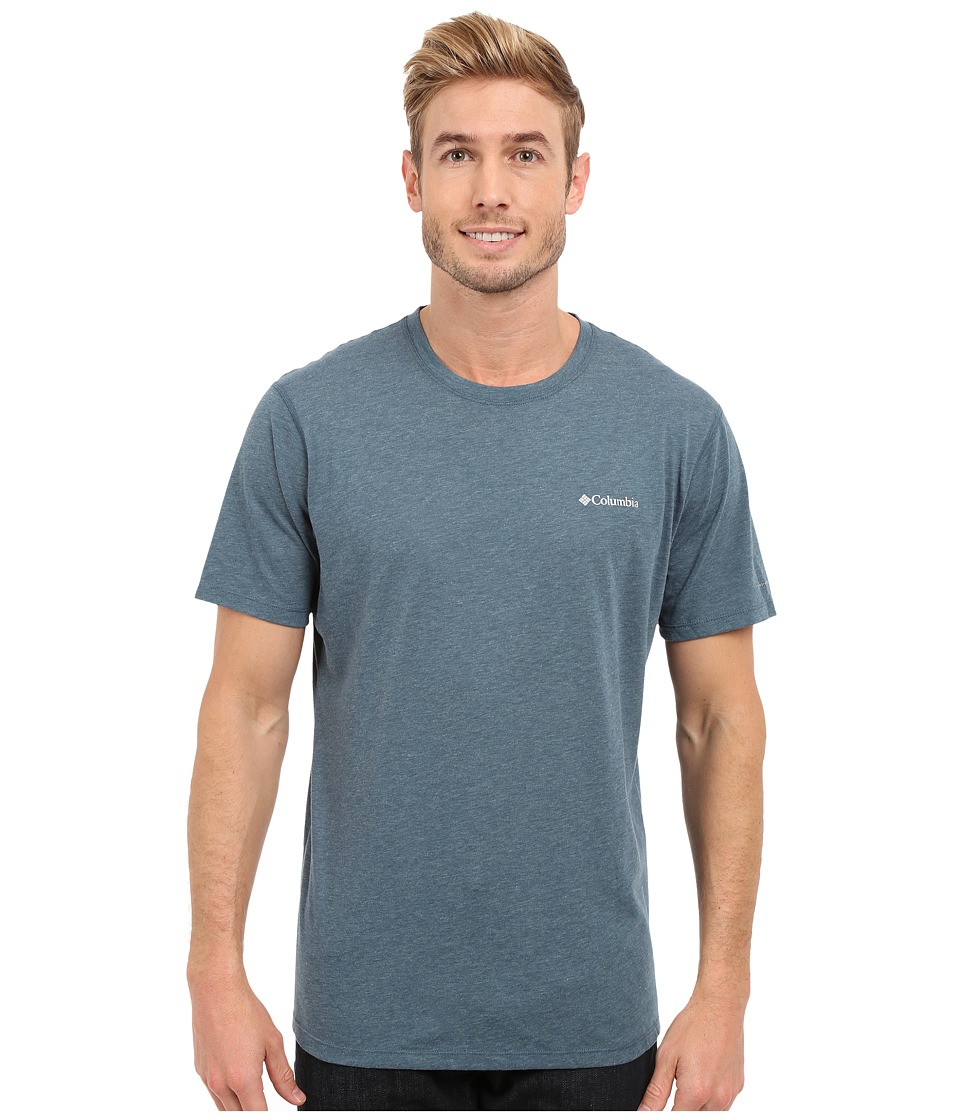 Columbia - Silver Ridge Zero Short Sleeve Shirt (Everblue Heather) Men's T Shirt