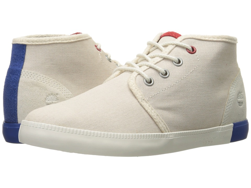Timberland - Newport Bay Canvas Chukka (White/Red/Blue) Women's Shoes