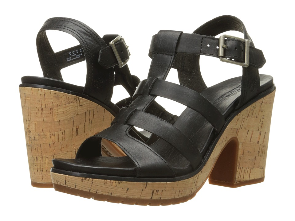 Timberland Roslyn Fisherman Sandal (Black) High Heels