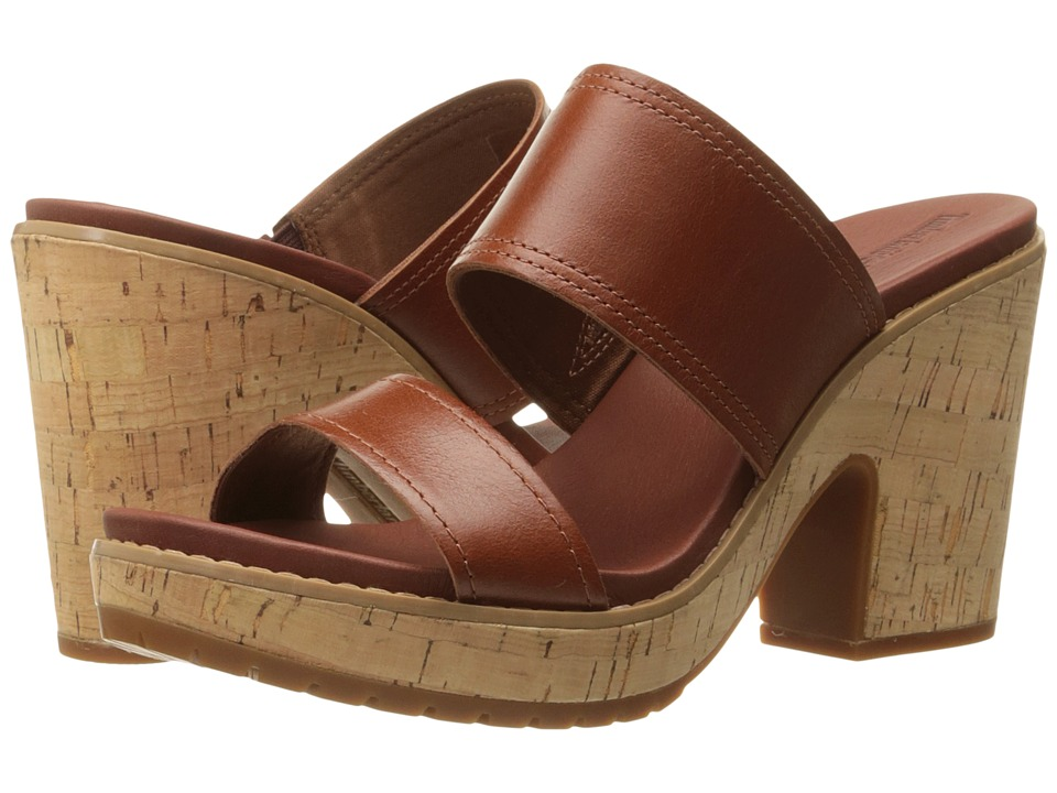 Timberland Roslyn Slide (Medium Brown) High Heels